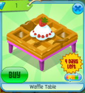 Waffle Table Pink