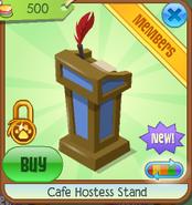 Cafe hostess stand 1