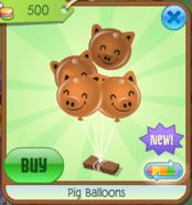 PigBalloons Orange(5)