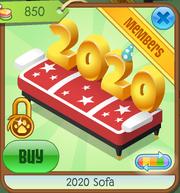 Red 2020 Sofa