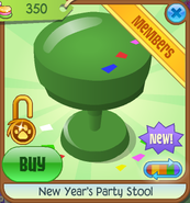 New-Years-Shop New-Years-Party-Stool Green