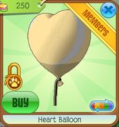 Yellow Heart Balloon