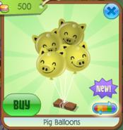 PigBalloons Yellow(6)