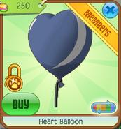 Blue Heart Balloon