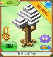 Shop Pixelated-Tree White