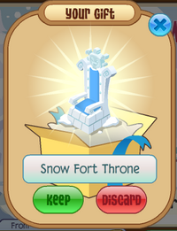 Snow Fort Throne