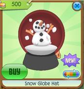 Red Snow Globe Hat