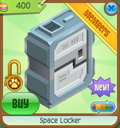 Shop Space-Locker White
