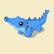 Item Exclusive Crocodile Plushie blue-flower