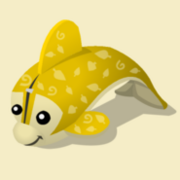 Item Exclusive Dolphin Plushie yellow-leaf