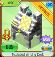 Pixelated writing desk 5