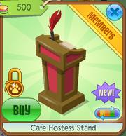Cafe hostess stand