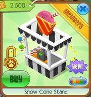Snow Cone Stand Black
