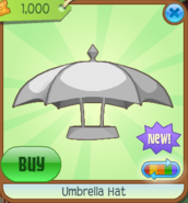 Umbrella Hat white