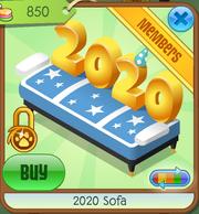Blue 2020 Sofa