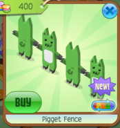 PigletFenceGreen
