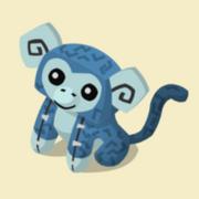 Item Exclusive Monkey Plushie blue