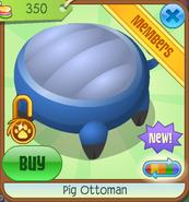 Shop Pig-Ottoman Blue