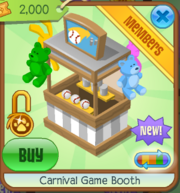 Carnival Game Booth White