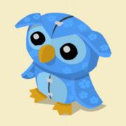 Item Exclusive Owl Plushie blue-flower