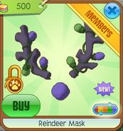 Purple Reindeer Mask