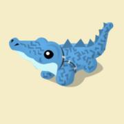 Item Exclusive Crocodile Plushie blue