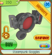 Shop Steampunk-Goggles Red
