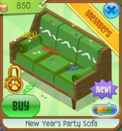 NYS New Year's Party Sofa green