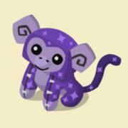 Item Exclusive Monkey Plushie purple-star
