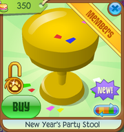 New-Years-Shop New-Years-Party-Stool Yellow