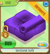 Section Sofa Purple Backwards
