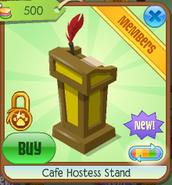 Cafe hostess stand 3