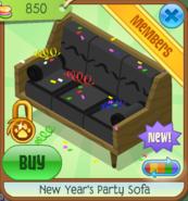 NYS New Year's Party Sofa black