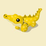 Item Exclusive Crocodile Plushie yellow-leaf