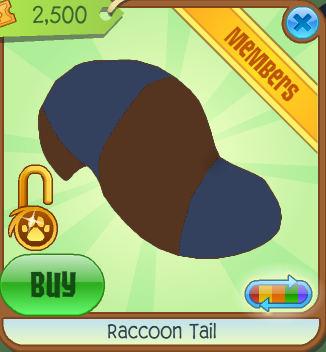 Raccoon tail animal jam item worth wiki fandom powered - Animaljam wiki ...