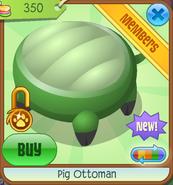 Shop Pig-Ottoman Green