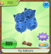 PigBalloons Blue(9)