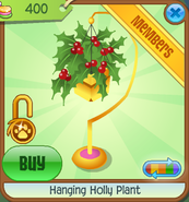 Jamakjkaliday-Jam Hanging-Holly-Plant Black