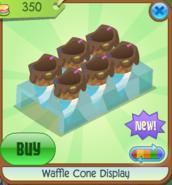 Waffle Cone Display blue