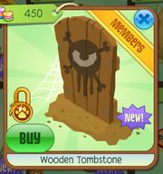 Wooden Tombstone