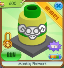 Monkey firework yellown