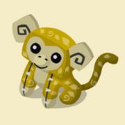 Item Exclusive Monkey Plushie yellow-leaf
