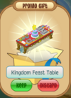 Kingdom feast table
