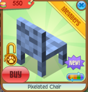 Pixelated Chair blue back