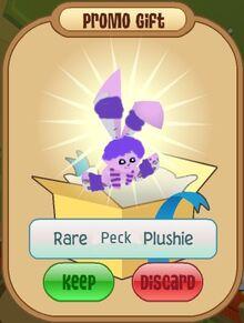 Peck plushie, Rare alpha plush