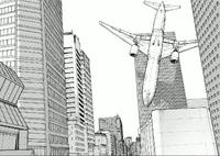 グラント製薬に突っ込む旅客機