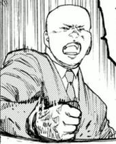 戸崎優の提案に不満をぶつける石丸竹雄