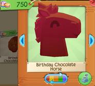 Birthday chocolate horse 4