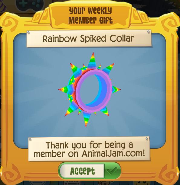 Rainbow Spiked Collar | Play Wild Wiki | FANDOM powered by Wikia
