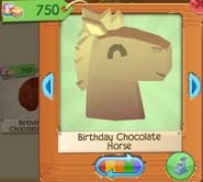 Birthday chocolate horse 1